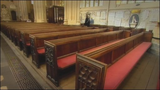 Pews at Bath Abbey