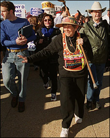 Granny D on her walk across the US