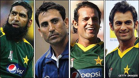 Mohammad Yousuf, Younus Khan, Rana Naved-ul-Hasan & Shoaib Malik