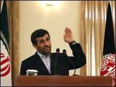 Mahmoud Ahmadinejad in Kabul, 10 March