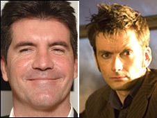 Simon Cowell and David Tennant
