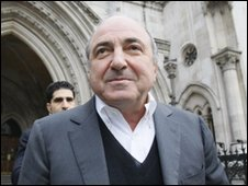 Boris Berezovsky outside the High Court