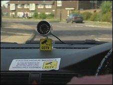 CCTV camera in taxi