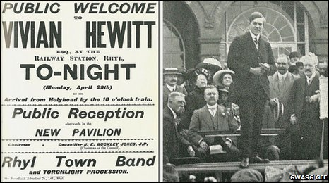 A hero's welcome  home for Captain Vivian Hewitt