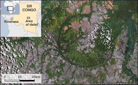 DR Congo 'crater' (Copyright 2010 TerraMetrics, Inc)