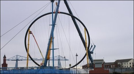 The first ring of Temenos being lifted into place