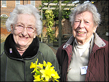 Yvonne Gollop and Eve Attridge served who Women's Land Army and Timber Corps