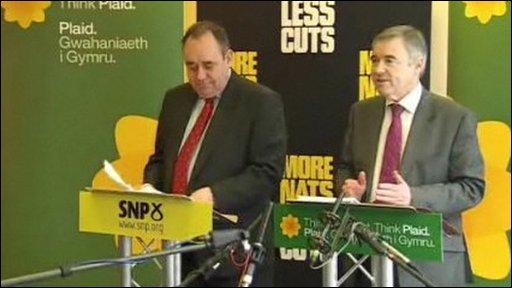 Alex Salmond and Ieuan Wyn Jones