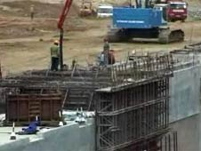 Hambantota port being built