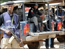 Police on patrol in Jos