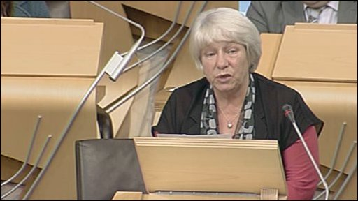SNP MSP Sandra White led the debate
