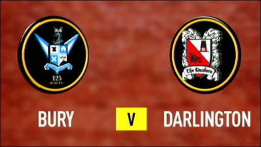 Bury 1-1 Darlington