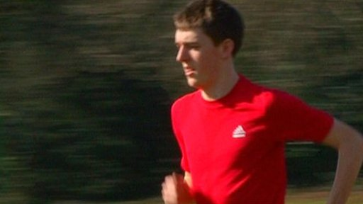 Olympic hopeful from Cardinal Newman School jogging