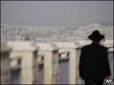 Ultra-Orthodox Jewish man in East Jerusalem