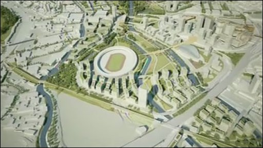 Model of the Olympic Park in Stratford