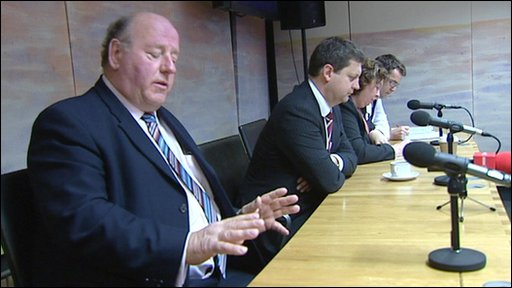 The Welsh Assembly at a table