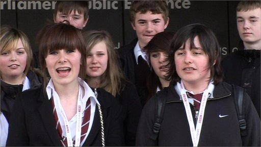 Students from schools in Scotland