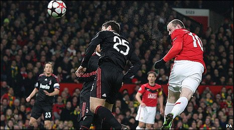 Bbc Sport Football Manchester United 4 0 Ac Milan Agg 7 2