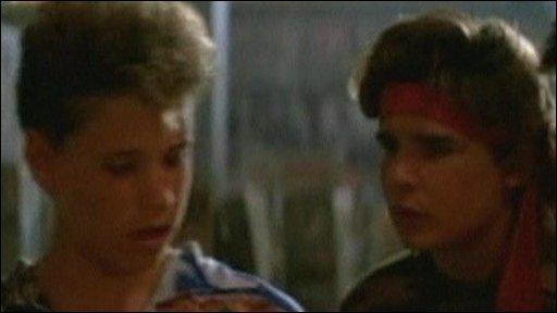 Corey Haim (left) in Lost Boys