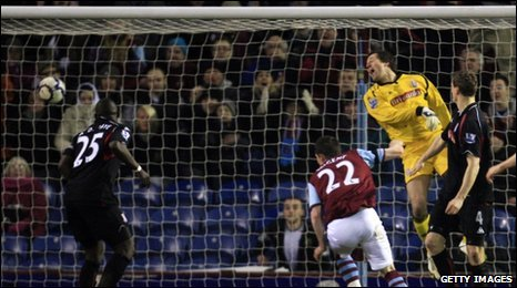 Nugent heads Burnley's equaliser