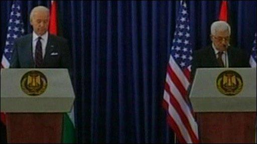 Joe Biden and Mahmoud Abbas
