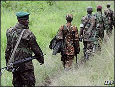CNDP soldiers in North Kivu, DR Congo (24/10/2008)