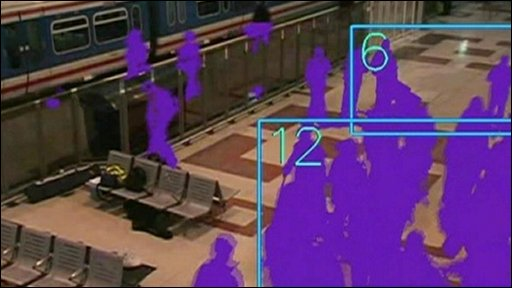 Image from 'intelligent' CCTV camera, counting people in view