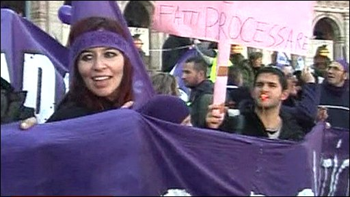Members of the Purple People Movement