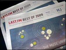 Last.fm newspaper