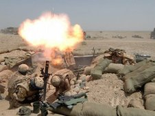 British troops in action in Afghanistan