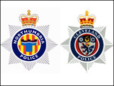 Northumbria and Cleveland Police logos