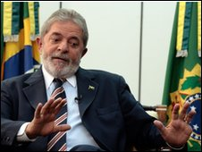 President Luiz Inacio Lula da Silva in an interview with AP on 9 March