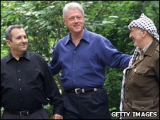 Barak, Clinton, and Arafat