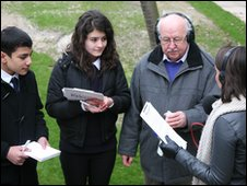 Students from The London Academy and Michael Fish