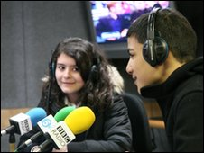 Students from The London Academy on Five Live