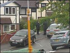 Murder scene in Barry in August 2009