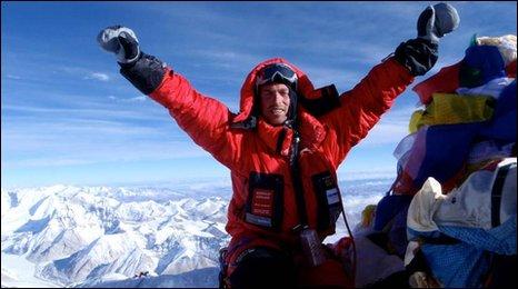 Kenton Cool on the summit of Everest