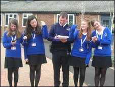 School Reporters and PC McGann