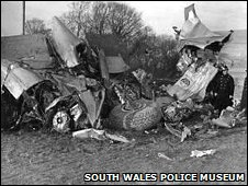 Llandow air disaster close to Sigginstone village, Vale of Glamorgan, in 1950