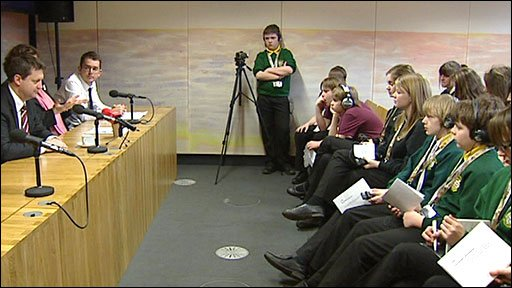 School Reporters visit the Welsh Assembly in Cardiff
