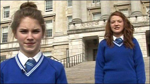 School reporters at Stormont