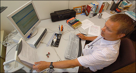 Translator in EU office (pic: European Commission)