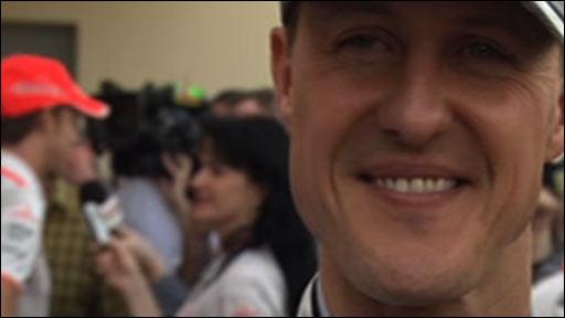 Mercedes GP star Michael Schumacher