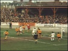 Newport County playing at Somerton Park