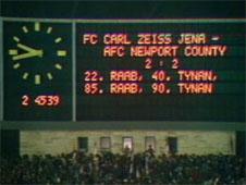 Carl Zeiss Jena scoreboard
