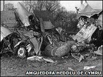 Damwain Awyr Llandw ger Sigginstone yn 1950