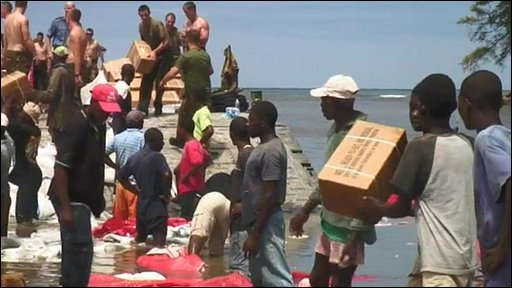 Aid arrives in Haiti