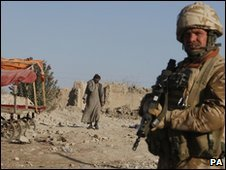 A British soldier in Musa Qala
