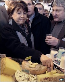 Martine Aubry at the international agricultural fair in Paris, 3 March 2010