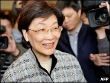 Wang Ching-Feng faces reports on 12 March 2010